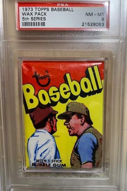1973 Topps Baseball 5th Series Wax Pack PSA 8
