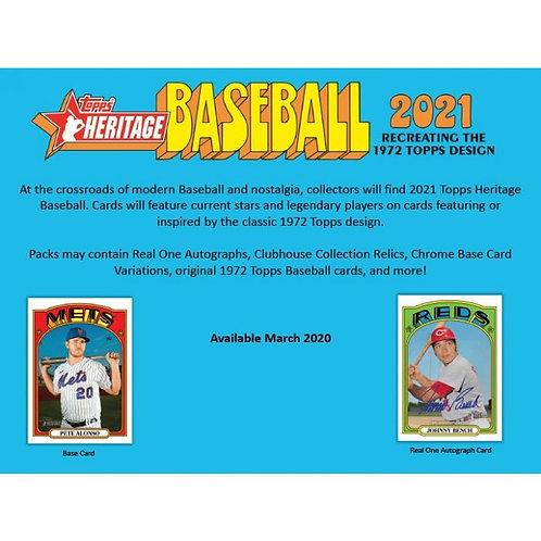 2021 Topps Heritage Baseball: 6 Box/Half Case PYT Group Break