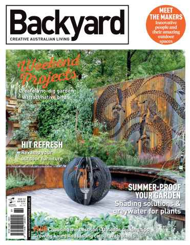 Backyard- Creative Australian Living Magazine Issue 13.5 2015 Photographer Paal Grant Designs