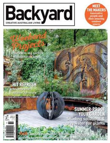 Backyard- Creative Australian Living Magazine Issue 13.5 2015 Photographer Paal Grant Designs