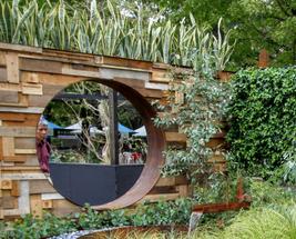 The Garden of the Little Wattlebird Circular Window