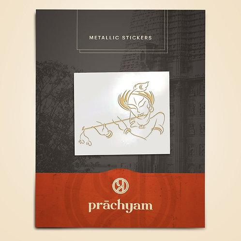 Mobile Back Cover Sticker-'Krishna' v2