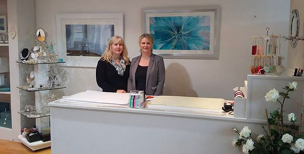 Mandy and Lisa in All About Rose home and gift shop Great Missenden.