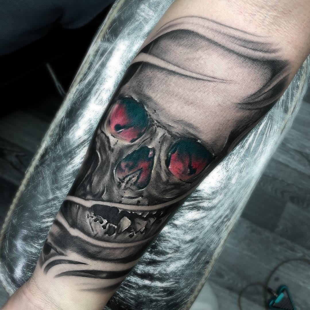 Skull Sheffield Personality Skin Red