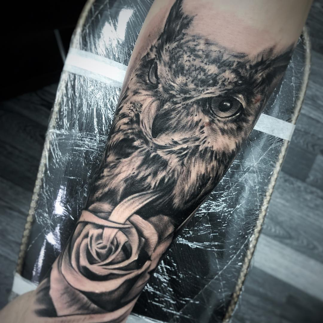 Owl Realistic Rose Sheffield