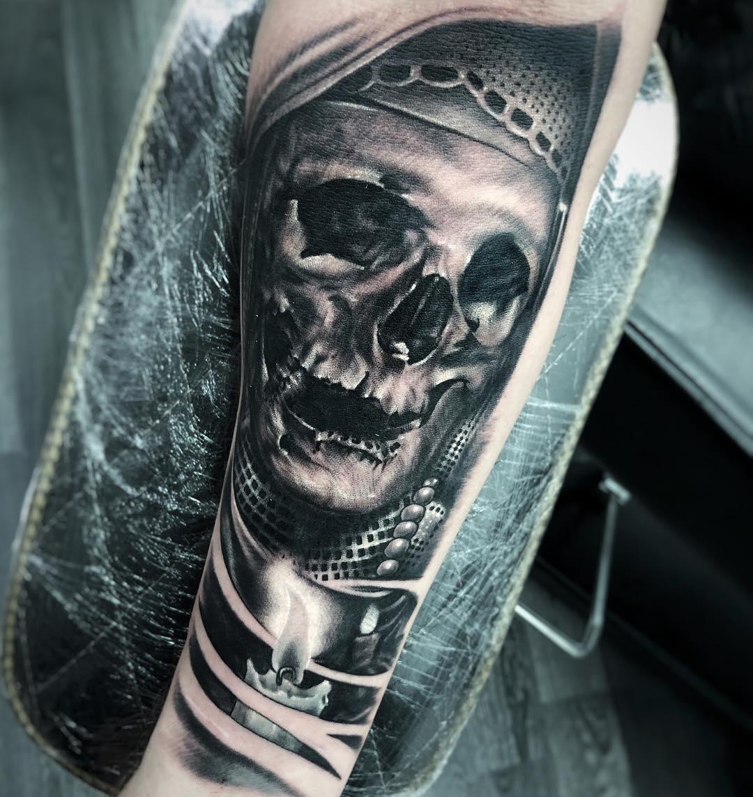 Realism Realistic Skull Tattoo Ink