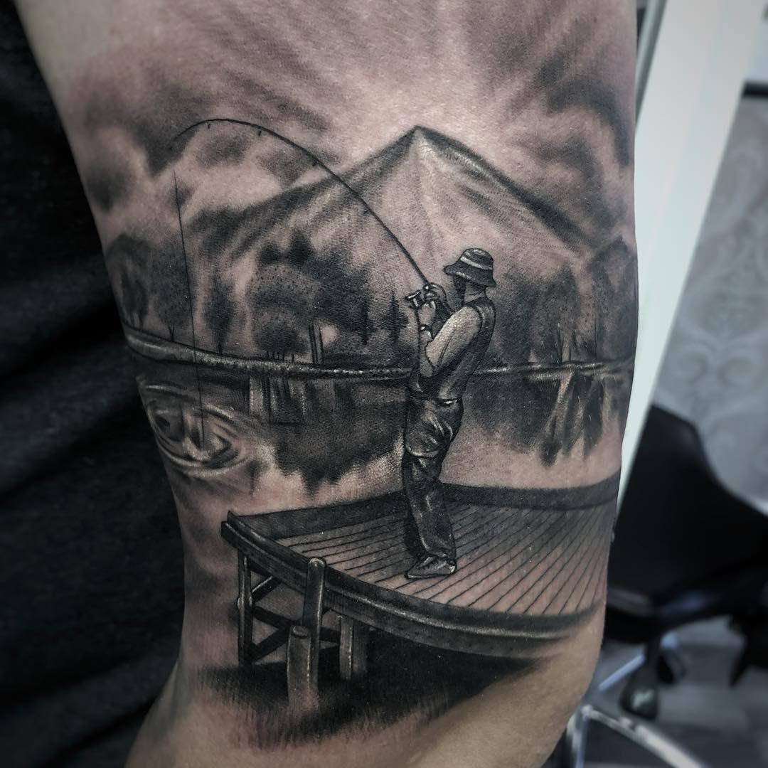 Fishing Sheffield City Ink Tattoo