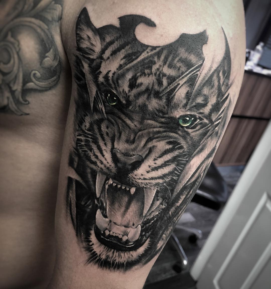 Realistic Tiger Tattoo Sheffield