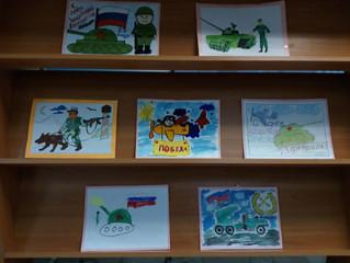 """Выставка детских рисунков """"Где служил мой дед"""""""