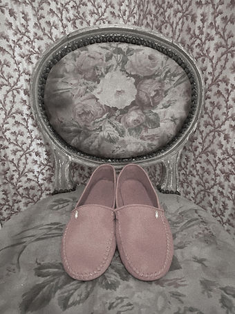 Luxury home slippers_ pastel pink