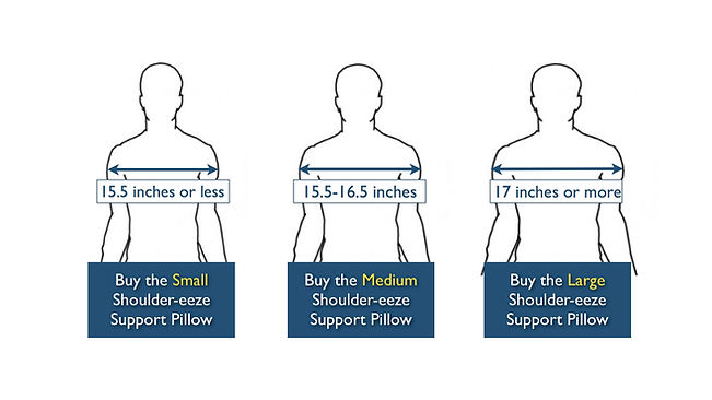 Shoulder Relief Support Pillow Sizing.00