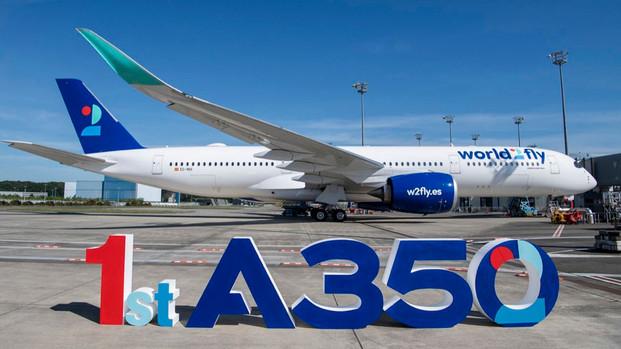 World2Fly recibió su primer Airbus A350 y calienta motores para el inicio de sus operaciones