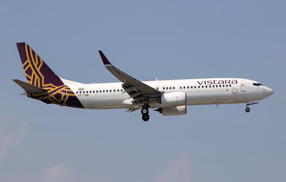 Boeing 737 Vistara pasajeros heridos