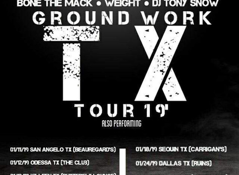 Tour dates announced for WEIGHT and Bone tha Mack Ground Work Texas Tour!