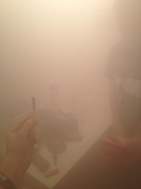 The sophomore smoke spot.