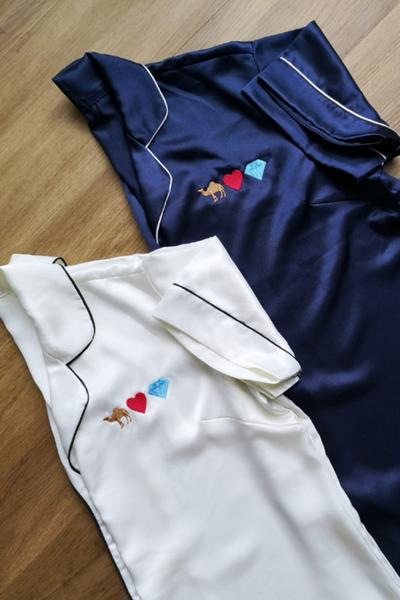 Personalised pyjamas with emojis