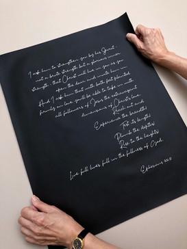 Ephesians verse on leather