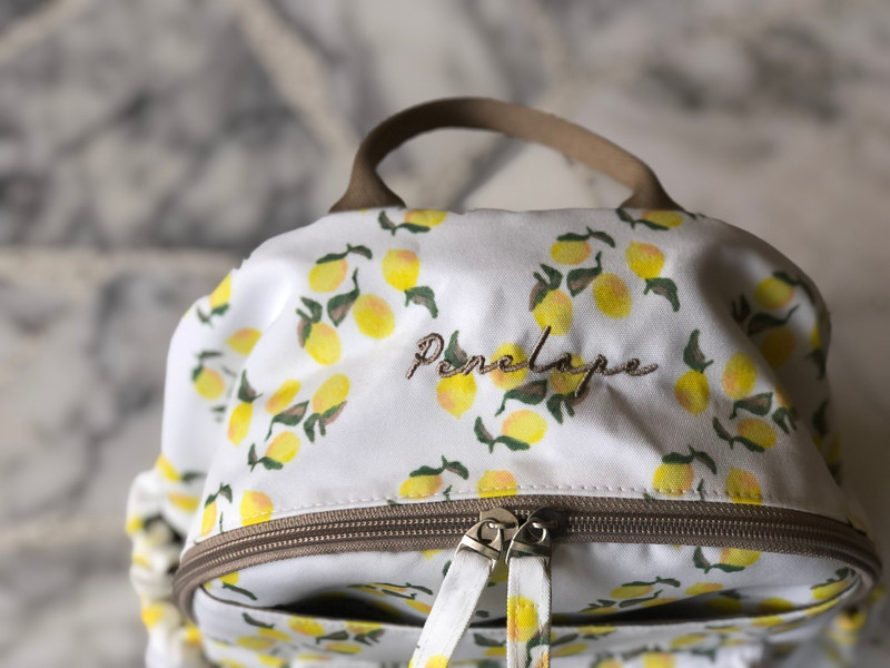 Personalised lemon backpack