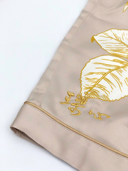 Gold chinese character embroidery
