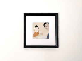 Framed couple portrait