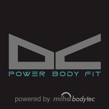 DC-power body fit | chalandri | miha | logo