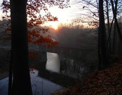 B_Drennen-Sunrise over the Creek Road Covered Bridge