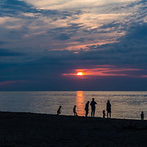Enjoy the sunset over Lake Erie, as well as finding beach glass or shell in the sand.
