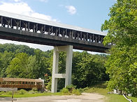The largest covered bridge in the country, Smolen-Gulf Covered Bridge