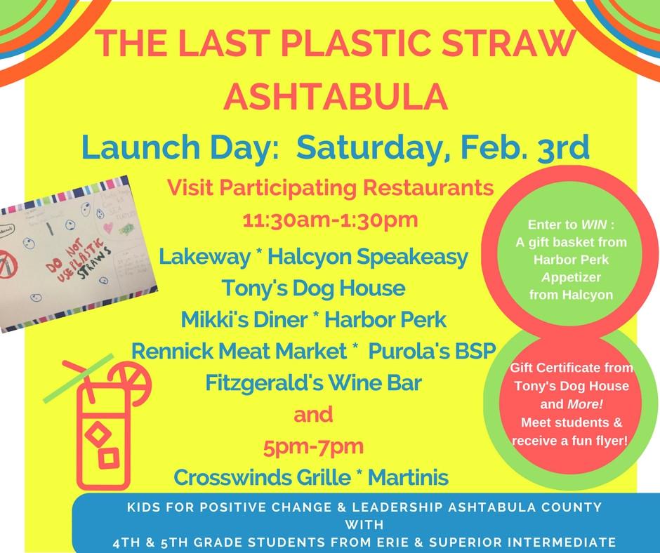 The Last Plastic Straw Ashtabula - Launch Event
