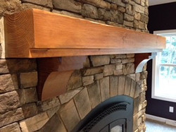 custom interior mantel
