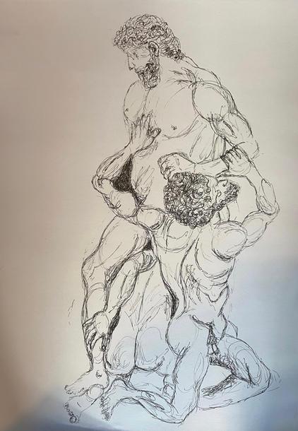 Interpretation of Vincenzo Foggini's 'Samson and the Philistines' by Jena Valambhia