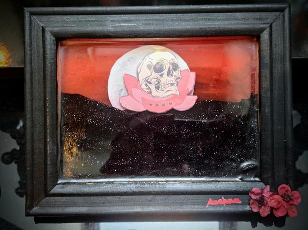 Skull in Full Bloom by Aashna Mendiratta