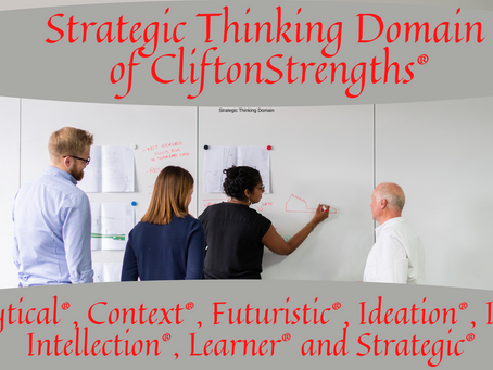 Strategic Thinking Domain of CliftonStrengths®