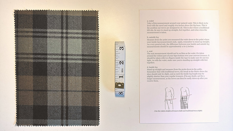 Tartan Fabric Sample and Measuring Pack