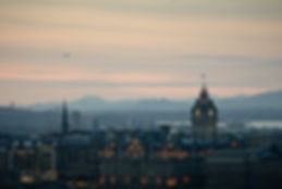 Edinburgh dusk skyline