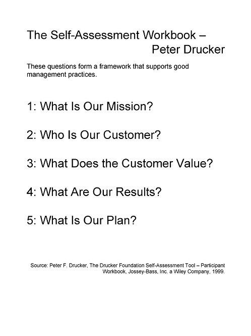 Drucker Questions Poster