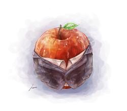 着飾る林檎