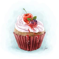レッドカップケーキ