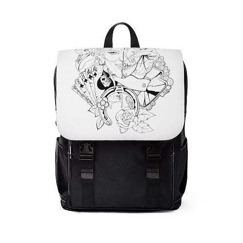 Lucky 13 Unisex Casual Shoulder Backpack
