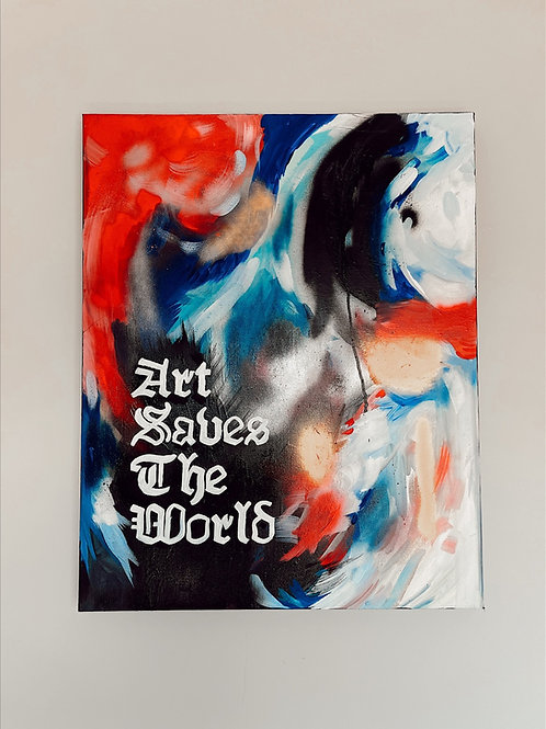 Art Saves The Word Abstract