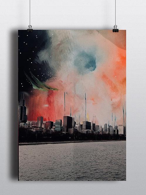 Skyline Multi-Media Poster