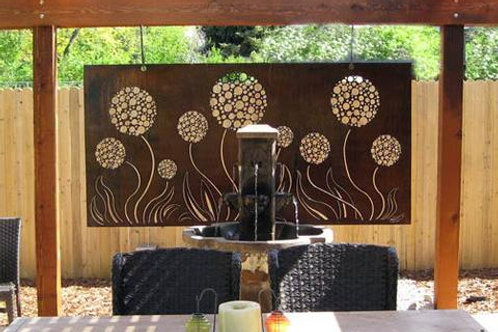 Backyard art and other backdrops