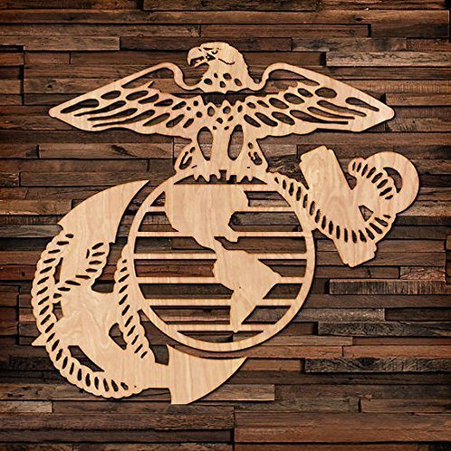 Eagle Global & Anchor in Wood