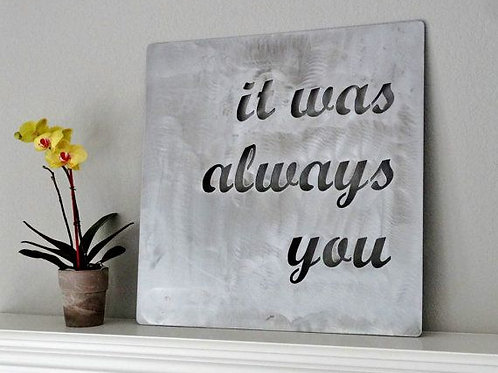 Quote Cut-Out on Metal
