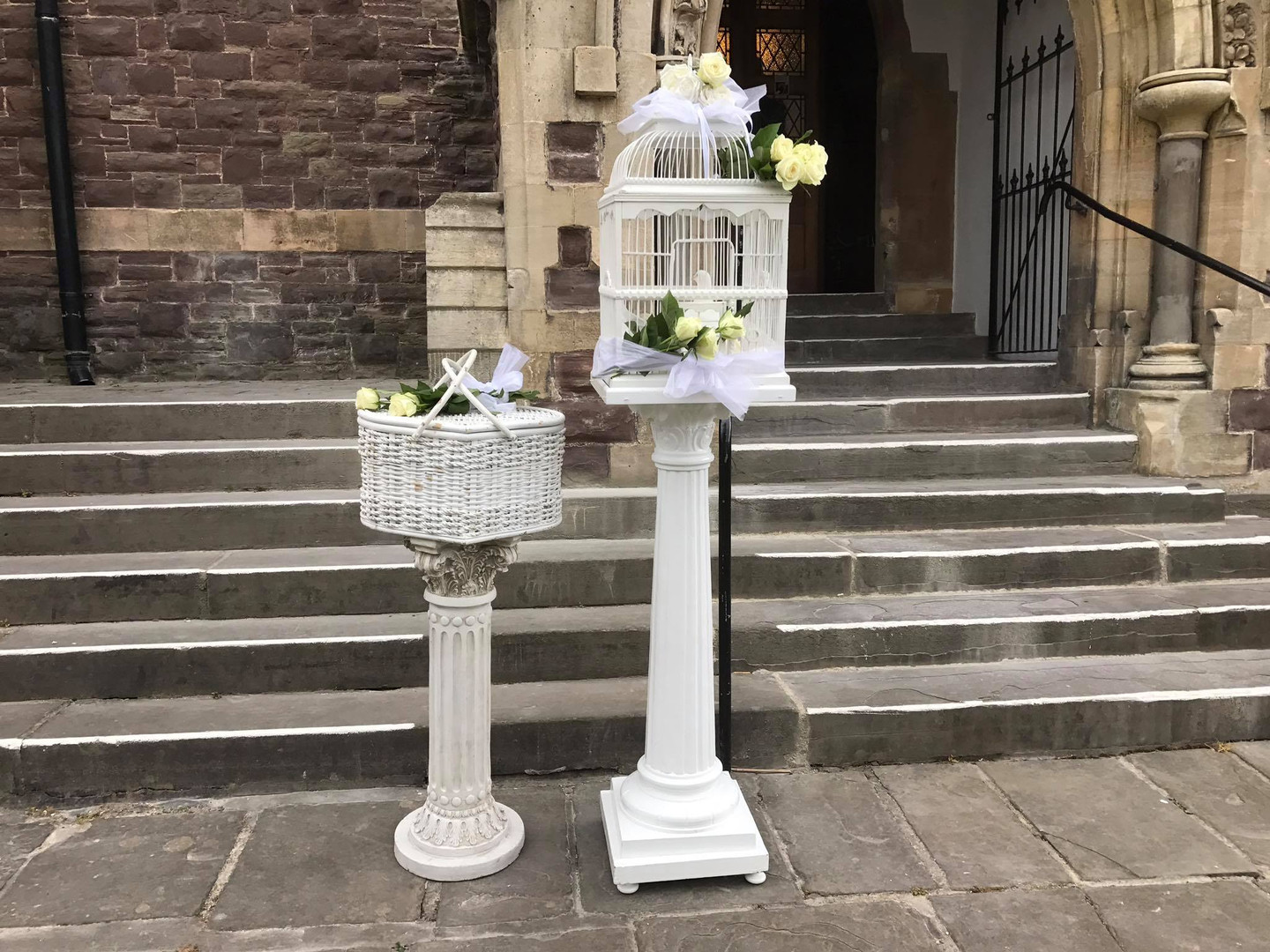 Doves for release at St Johns Church Newport