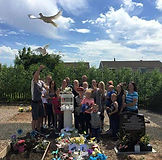 Doves for a funeral South Wales