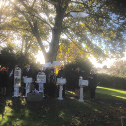release white doves for a funeral at St Julius in Newport South Wales
