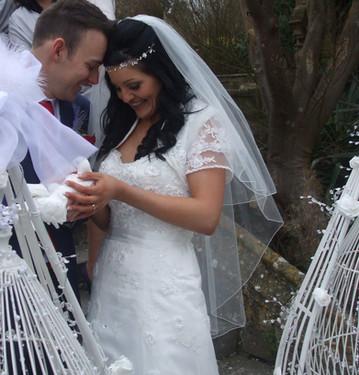 White Doves for a wedding Tortworth Court