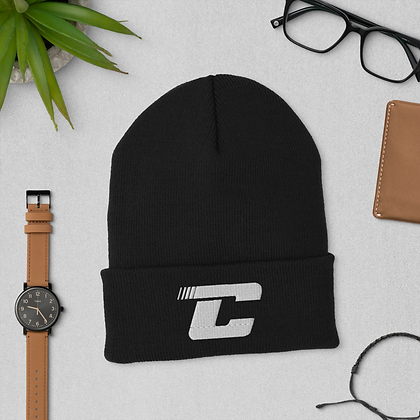 Checkpoint C white - Cuffed Beanie