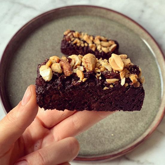 BROWNIES CHOCOLAT-AMANDE-CACAHUETE (PAR 2) ✰